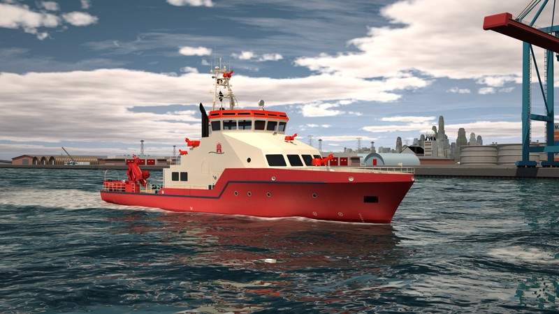 New Fire fighting vessel for Hamburg Fire Brigade – keel laying ceremony is the first milestone